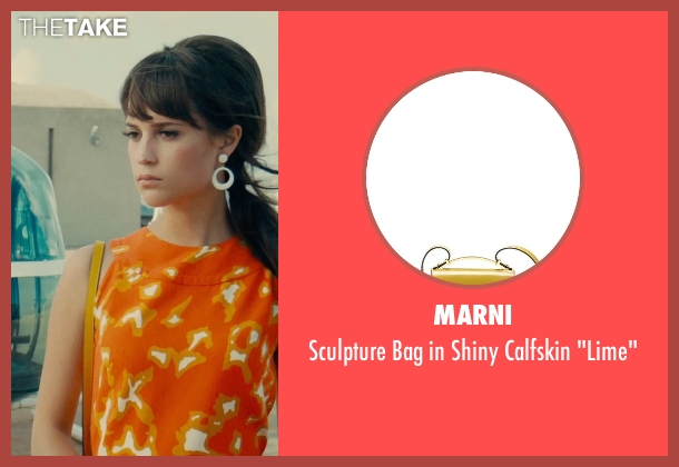 "Marni yellow ""lime"" from The Man from U.N.C.L.E. seen with Alicia Vikander (Gaby Teller)"