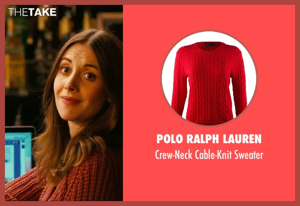 Polo Ralph Lauren red sweater from How To Be Single seen with Alison Brie (Unknown Character)