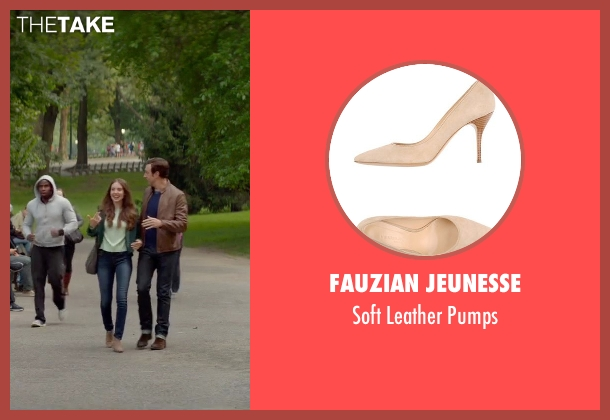 Fauzian Jeunesse beige pumps from Sleeping with Other People seen with Alison Brie (Lainey)