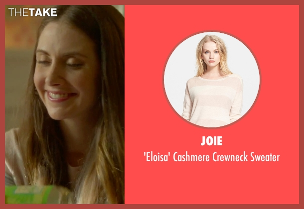 Joie beige sweater from Sleeping with Other People seen with Alison Brie (Lainey)