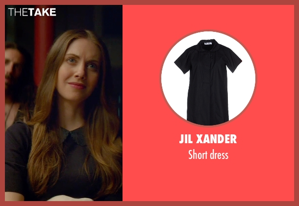 Jil Xander black dress from Sleeping with Other People seen with Alison Brie (Lainey)