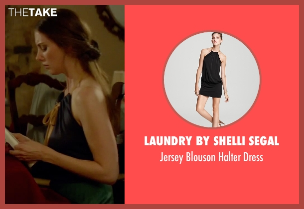 Laundry by Shelli Segal black dress from Sleeping with Other People seen with Alison Brie (Lainey)