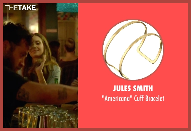 Jules Smith gold bracelet from Sleeping with Other People seen with Alison Brie (Lainey)