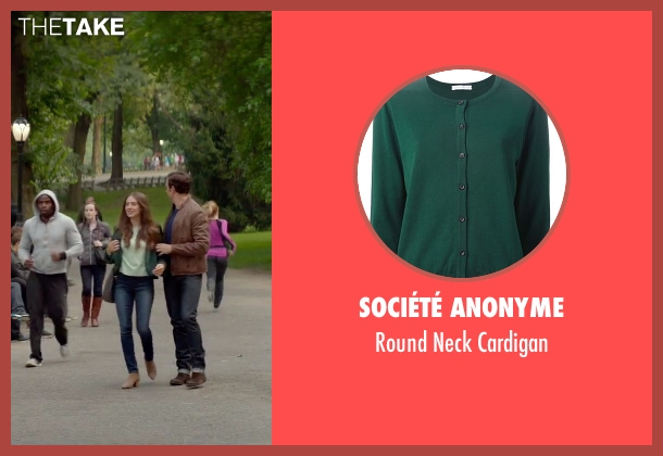 Société Anonyme green cardigan from Sleeping with Other People seen with Alison Brie (Lainey)