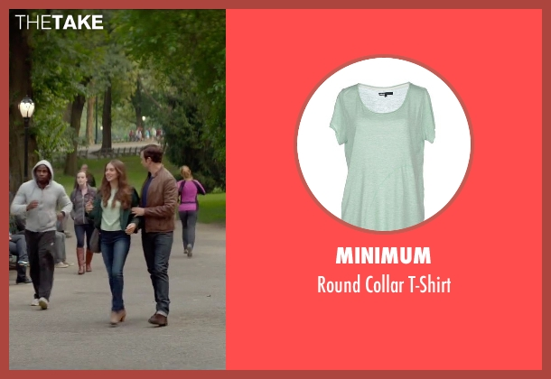 Minimum green t-shirt from Sleeping with Other People seen with Alison Brie (Lainey)