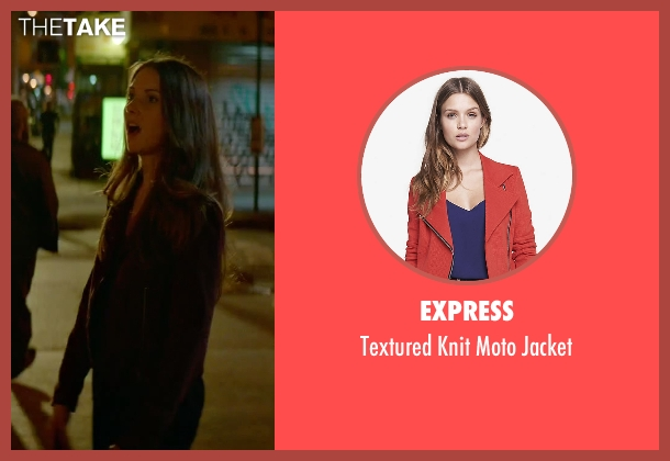 Express red jacket from Sleeping with Other People seen with Alison Brie (Lainey)