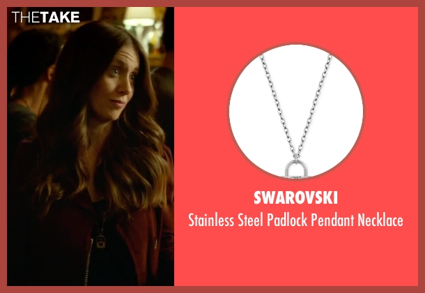 Swarovski silver necklace from Sleeping with Other People seen with Alison Brie (Lainey)