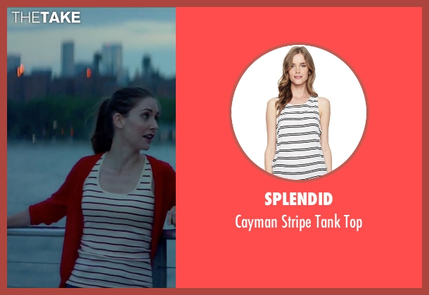 Splendid white top from Sleeping with Other People seen with Alison Brie (Lainey)