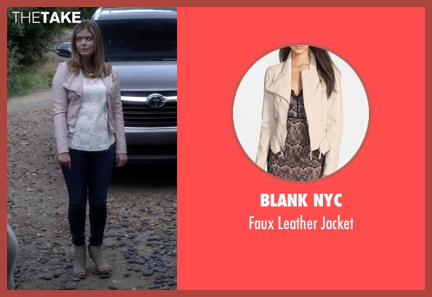 Blank NYC beige jacket from Pretty Little Liars seen with Alison DiLaurentis (Sasha Pieterse)