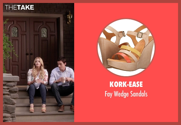 Kork-Ease  beige sandals from Pretty Little Liars seen with Alison DiLaurentis (Sasha Pieterse)