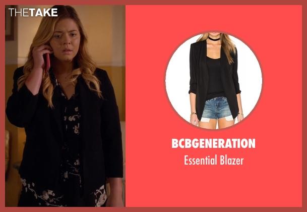 BCBGeneration black blazer from Pretty Little Liars seen with Alison DiLaurentis (Sasha Pieterse)