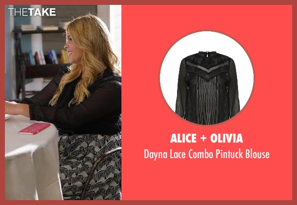 Alice + Olivia  black blouse from Pretty Little Liars seen with Alison DiLaurentis (Sasha Pieterse)