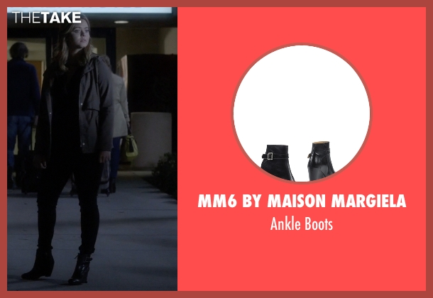 MM6 by Maison Margiela black boots from Pretty Little Liars seen with Alison DiLaurentis (Sasha Pieterse)