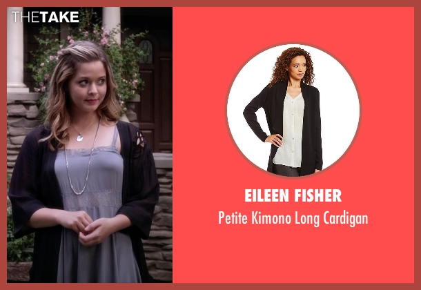 Eileen Fisher black cardigan from Pretty Little Liars seen with Alison DiLaurentis (Sasha Pieterse)