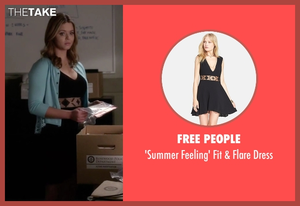 Free People black dress from Pretty Little Liars seen with Alison DiLaurentis (Sasha Pieterse)