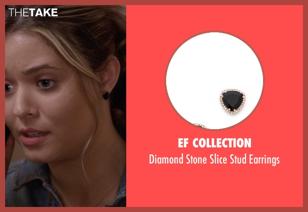 EF Collection black earrings from Pretty Little Liars seen with Alison DiLaurentis (Sasha Pieterse)