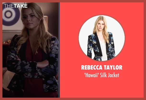 Rebecca Taylor black jacket from Pretty Little Liars seen with Alison DiLaurentis (Sasha Pieterse)