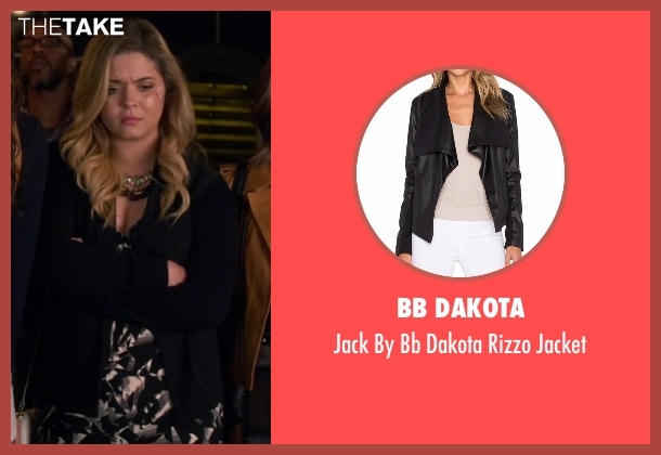 Bb Dakota black jacket from Pretty Little Liars seen with Alison DiLaurentis (Sasha Pieterse)