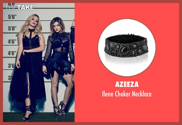 Azeeza black necklace from Pretty Little Liars seen with Alison DiLaurentis (Sasha Pieterse)