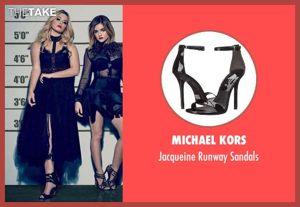 Michael Kors black sandals from Pretty Little Liars seen with Alison DiLaurentis (Sasha Pieterse)