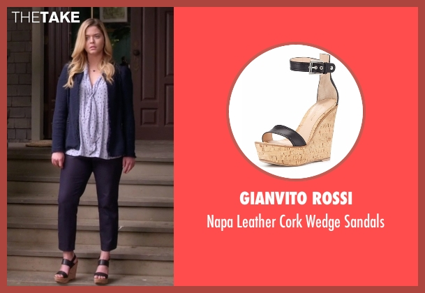 Gianvito Rossi black sandals from Pretty Little Liars seen with Alison DiLaurentis (Sasha Pieterse)