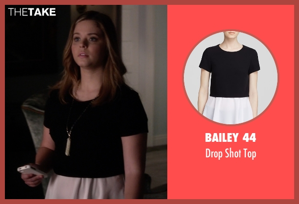 Bailey 44 black top from Pretty Little Liars seen with Alison DiLaurentis (Sasha Pieterse)