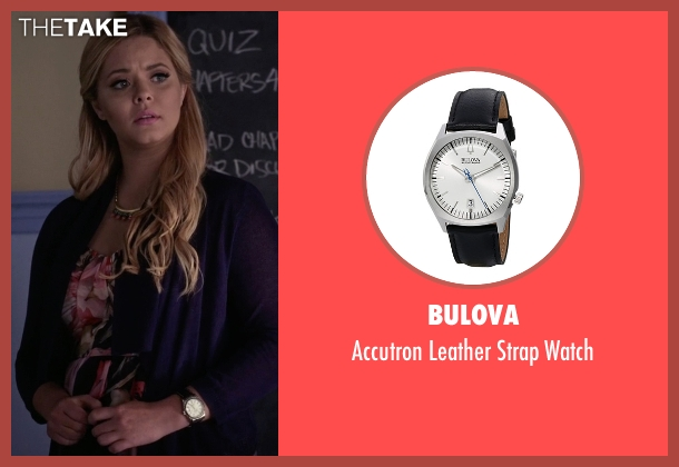 Bulova black watch from Pretty Little Liars seen with Alison DiLaurentis (Sasha Pieterse)