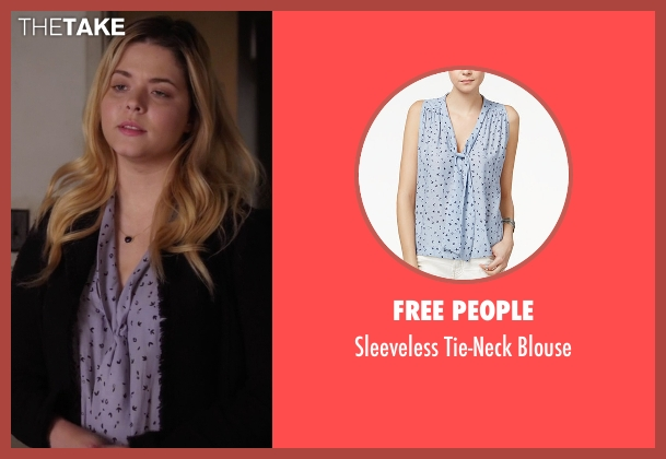Free People blue blouse from Pretty Little Liars seen with Alison DiLaurentis (Sasha Pieterse)