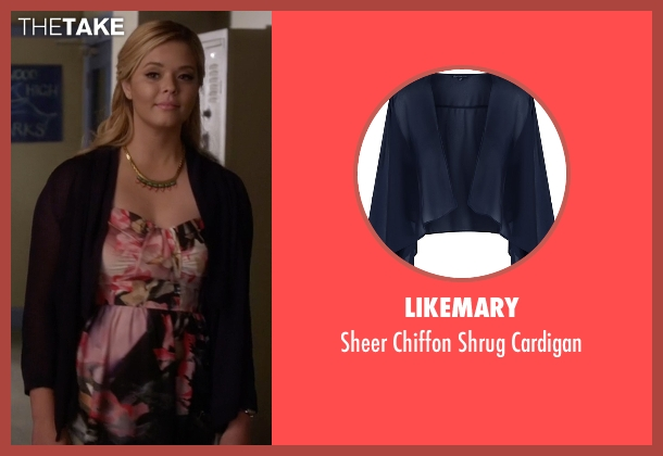 Likemary blue cardigan from Pretty Little Liars seen with Alison DiLaurentis (Sasha Pieterse)