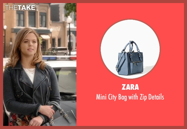 Zara blue details from Pretty Little Liars seen with Alison DiLaurentis (Sasha Pieterse)