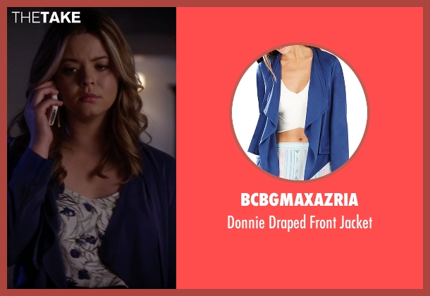BCBGMAXAZRIA blue jacket from Pretty Little Liars seen with Alison DiLaurentis (Sasha Pieterse)