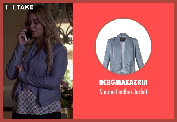 BCBGMAXAZRIA blue jacket from Pretty Little Liars seen with Alison DiLaurentis (Sasha Pieterse)