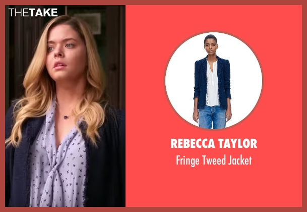 Rebecca Taylor blue jacket from Pretty Little Liars seen with Alison DiLaurentis (Sasha Pieterse)