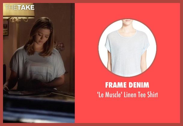 Frame Denim blue shirt from Pretty Little Liars seen with Alison DiLaurentis (Sasha Pieterse)