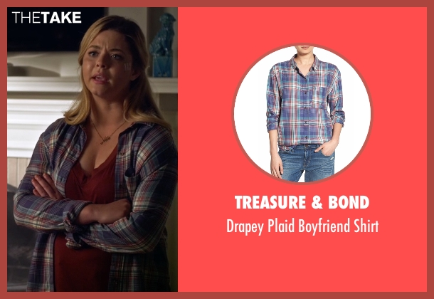 Treasure & Bond blue shirt from Pretty Little Liars seen with Alison DiLaurentis (Sasha Pieterse)