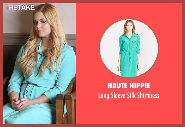 Haute Hippie blue shirtdress from Pretty Little Liars seen with Alison DiLaurentis (Sasha Pieterse)