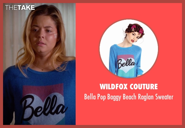 Wildfox Couture  blue sweater from Pretty Little Liars seen with Alison DiLaurentis (Sasha Pieterse)