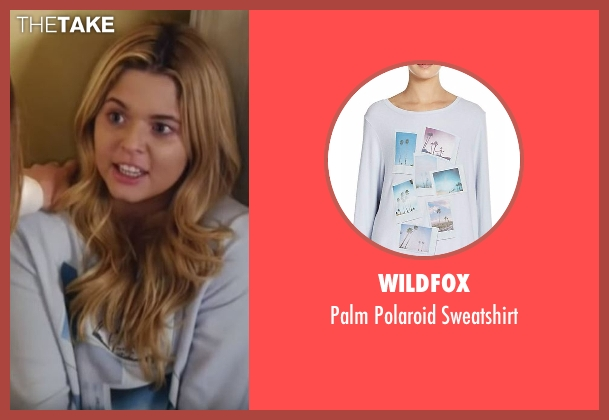 Wildfox blue sweatshirt from Pretty Little Liars seen with Alison DiLaurentis (Sasha Pieterse)