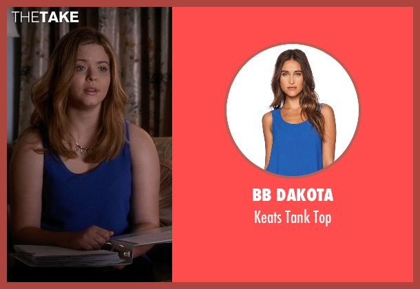 BB Dakota blue top from Pretty Little Liars seen with Alison DiLaurentis (Sasha Pieterse)