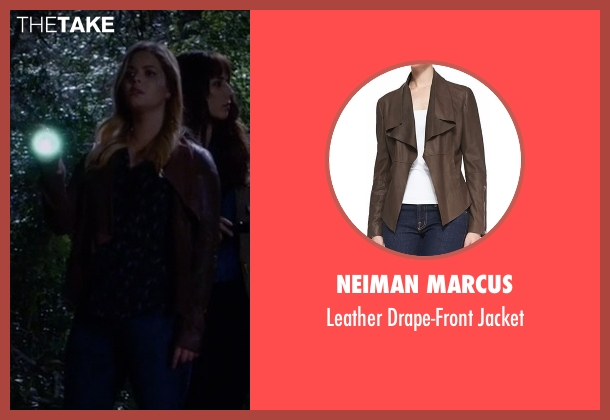 Neiman Marcus brown jacket from Pretty Little Liars seen with Alison DiLaurentis (Sasha Pieterse)