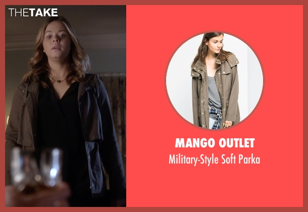 Mango Outlet brown parka from Pretty Little Liars seen with Alison DiLaurentis (Sasha Pieterse)
