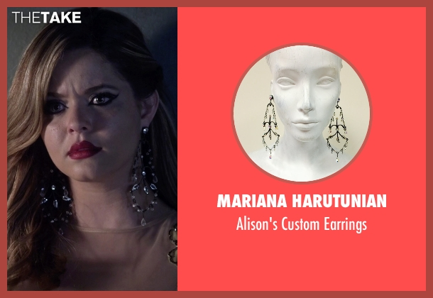 Mariana Harutunian gold earrings from Pretty Little Liars seen with Alison DiLaurentis (Sasha Pieterse)