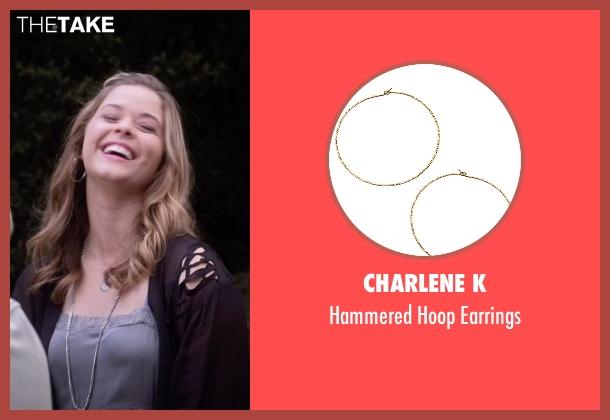 Charlene K gold earrings from Pretty Little Liars seen with Alison DiLaurentis (Sasha Pieterse)