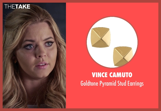 Vince Camuto gold earrings from Pretty Little Liars seen with Alison DiLaurentis (Sasha Pieterse)