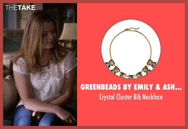 Greenbeads by Emily & Ashley gold necklace from Pretty Little Liars seen with Alison DiLaurentis (Sasha Pieterse)