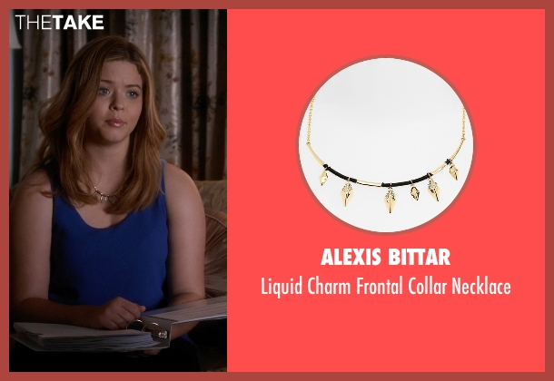 Alexis Bittar gold necklace from Pretty Little Liars seen with Alison DiLaurentis (Sasha Pieterse)