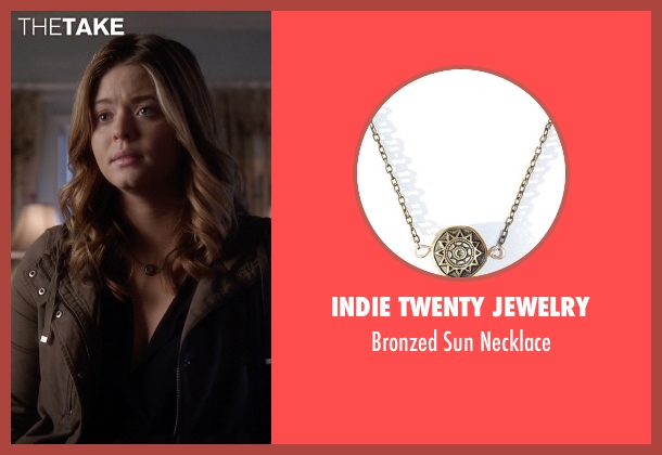 Indie Twenty Jewelry gold necklace from Pretty Little Liars seen with Alison DiLaurentis (Sasha Pieterse)