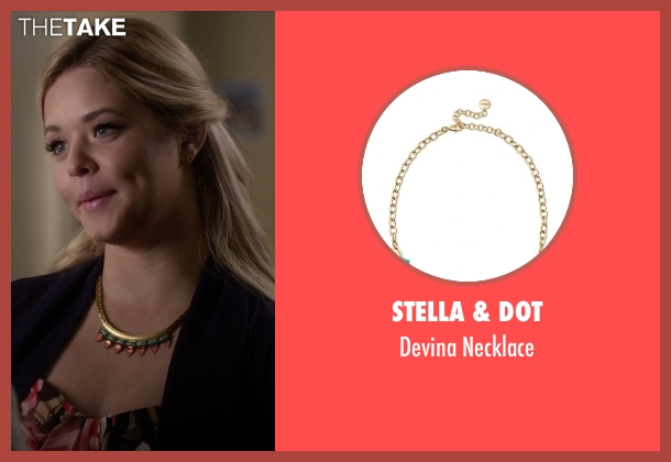Stella & Dot gold necklace from Pretty Little Liars seen with Alison DiLaurentis (Sasha Pieterse)