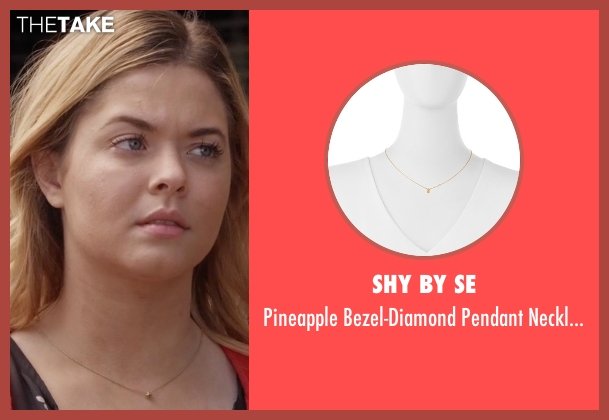 SHY by SE  gold necklace from Pretty Little Liars seen with Alison DiLaurentis (Sasha Pieterse)
