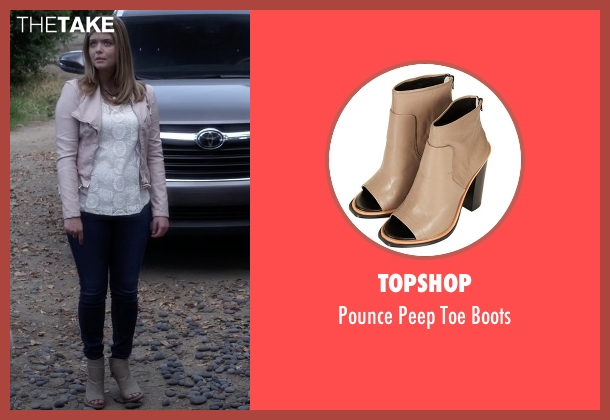 Topshop gray boots from Pretty Little Liars seen with Alison DiLaurentis (Sasha Pieterse)